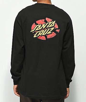 Santa Cruz Broken Dot Black Long Sleeve T-Shirt