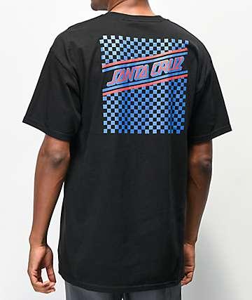 Santa Cruz Check Strip Hue Black T-Shirt