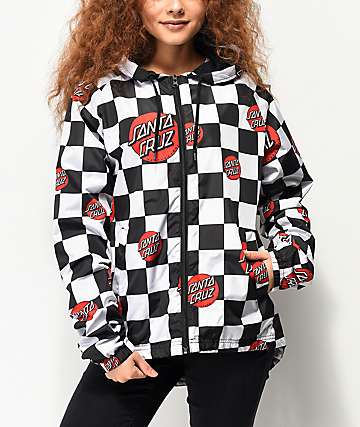 Santa Cruz Checker Dot Windbreaker Jacket