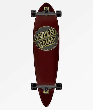 "Santa Cruz Classic Dot 39"" Pintail Longboard Complete"