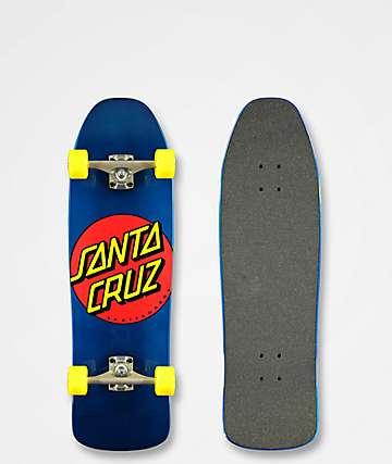 "Santa Cruz Classic Dot 9.35"" Cruiser Complete Skateboard"