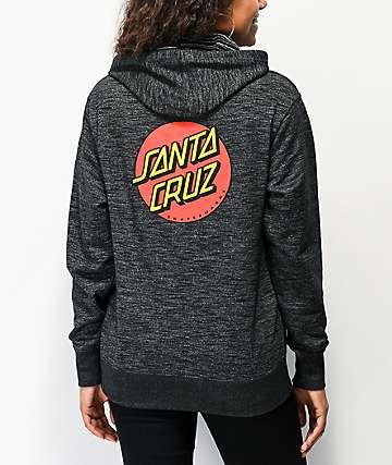 Santa Cruz Classic Dot Baja Black Hoodie