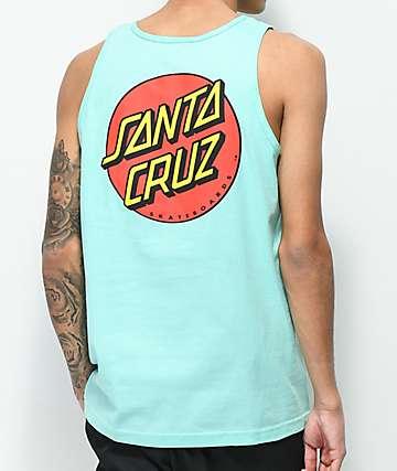 Santa Cruz Classic Dot Cyan Tank Top