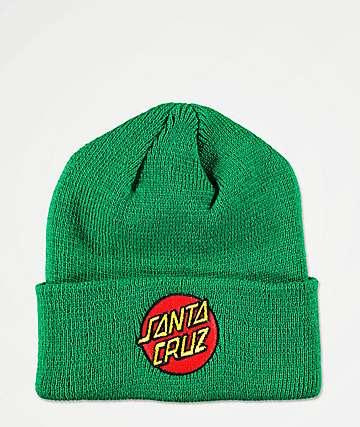 Santa Cruz Classic Dot Green Beanie
