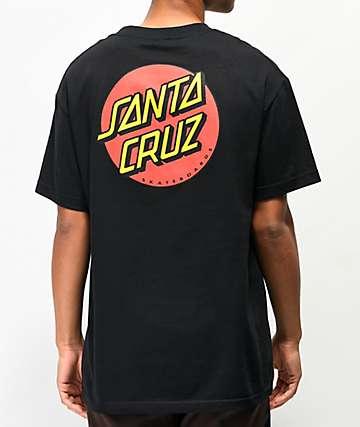 Santa Cruz Classic Dot Logo Black T-Shirt