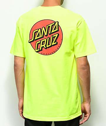 Santa Cruz Classic Dot Safety Green T-Shirt