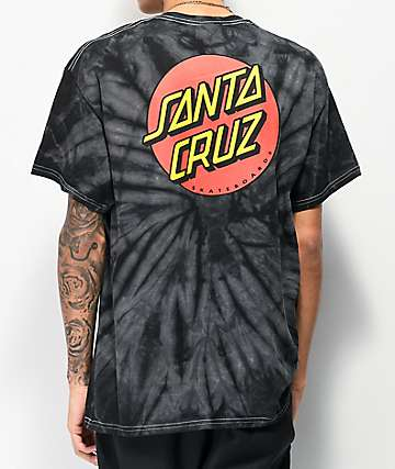 Santa Cruz Classic Dot Spider Black T-Shirt