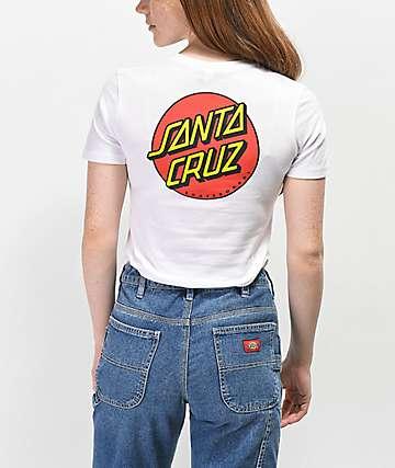 Santa Cruz Classic Dot camiseta blanca
