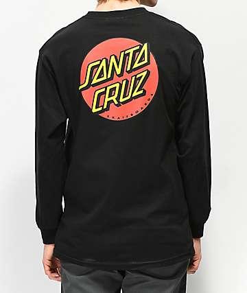 Santa Cruz Classic Dot camiseta negra de manga larga