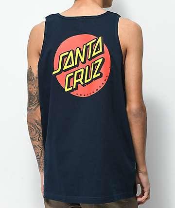 Santa Cruz Classic Dot camiseta sin mangas azul marino