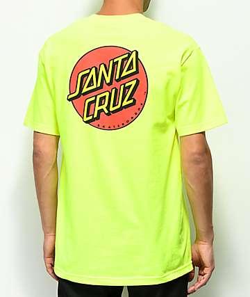 Santa Cruz Classic Dot camiseta verde neón