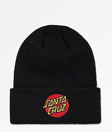 Santa Cruz Classic Dot gorro negro