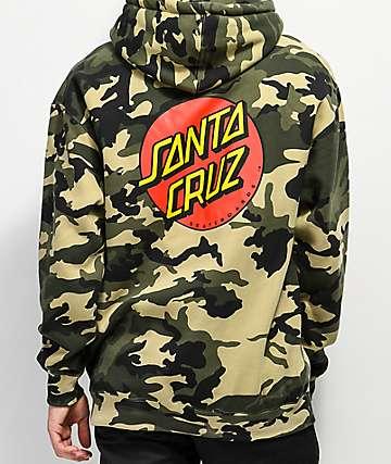 Santa Cruz Classic Dot sudadera con capucha camuflada