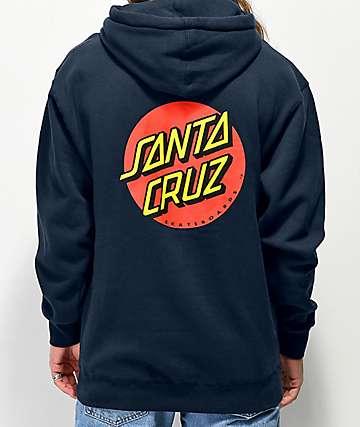Santa Cruz Classic Dot sudadera con capucha negra