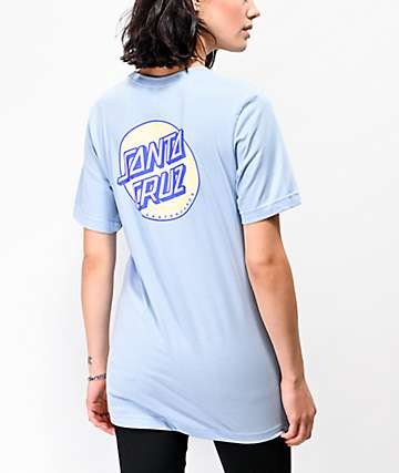Santa Cruz Coiled Dot Baby Blue T-Shirt