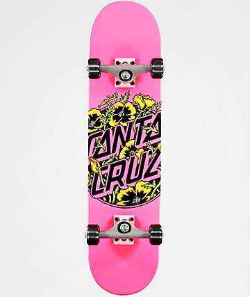 "Santa Cruz Colored Poppy 7.75"" Skateboard Complete"