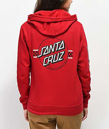 Santa Cruz Contest Dot Brick Red Hoodie
