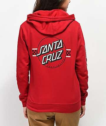 Santa Cruz Contest Dot sudadera con capucha roja
