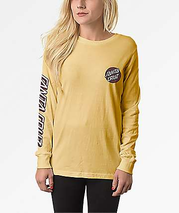 Santa Cruz Convert Sonny Yellow Long Sleeve T-Shirt