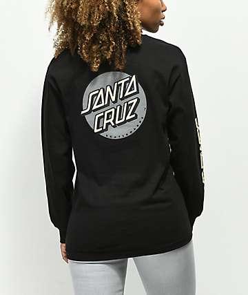 Santa Cruz Convert camiseta negra de manga larga