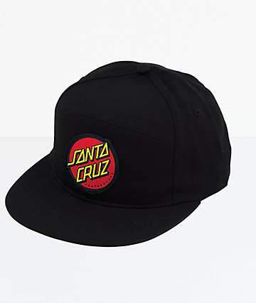 Santa Cruz Dot Black Snapback Hat