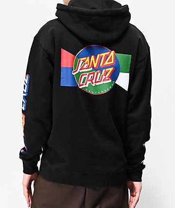 Santa Cruz Dot Blocker Black Hoodie