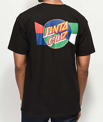 Santa Cruz Dot Blocker Black T-Shirt