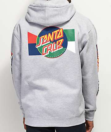 Santa Cruz Dot Blocker Grey Hoodie