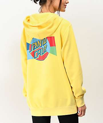 Santa Cruz Dot Blocker Yellow Hoodie