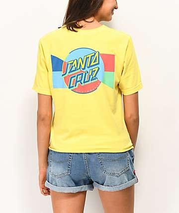 Santa Cruz Dot Blocker Yellow T-Shirt