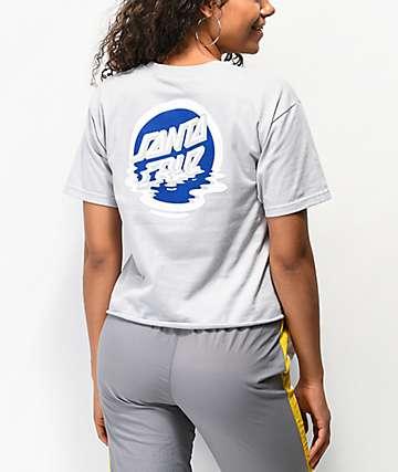 Santa Cruz Dot Reflection Silver Crop T-Shirt