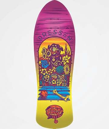 "Santa Cruz Dressen Pup Reissue 9.5"" Skateboard Deck"