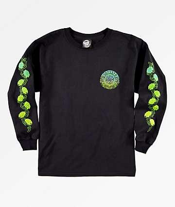 Santa Cruz Dressen Rose 2 Black Long Sleeve T-Shirt
