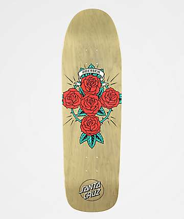 "Santa Cruz Dressen Rose Cross 9.31"" Skateboard Deck"