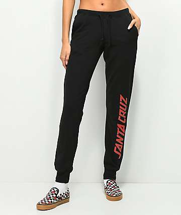 Santa Cruz Dusk Strip Black Sweatpants
