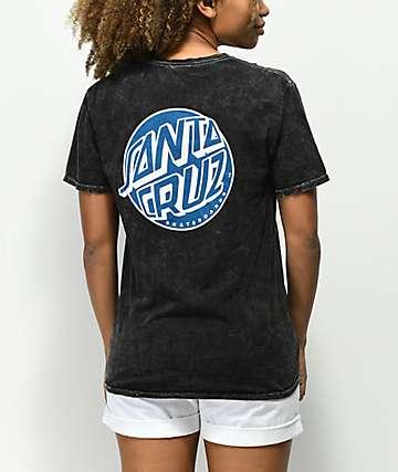 Santa Cruz Fisheye Dot Black Mineral T-Shirt