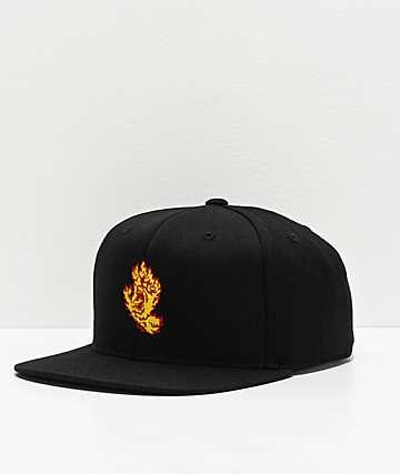 Santa Cruz Flame Hand Black Snapback Hat