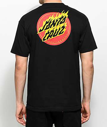 Santa Cruz Flaming Dot camiseta negra