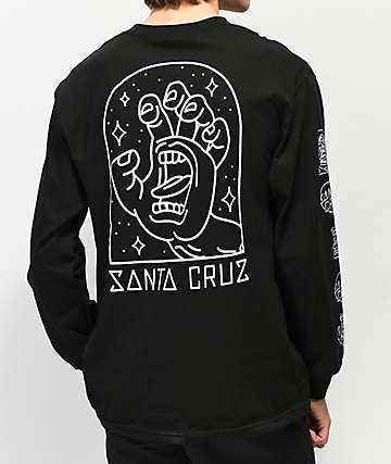 Santa Cruz Gateway Hand Black Long Sleeve T-Shirt