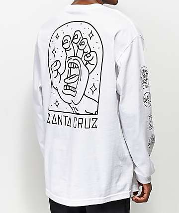 Santa Cruz Gateway Hand White Long Sleeve T-Shirt