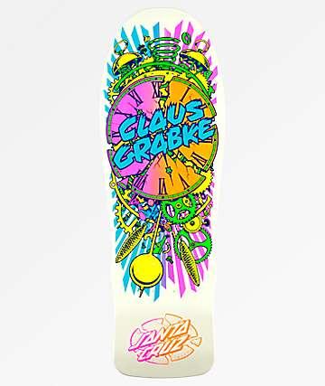 """Santa Cruz Grabke Neon Exploding Clock 10.04"""" Skateboard Deck"""