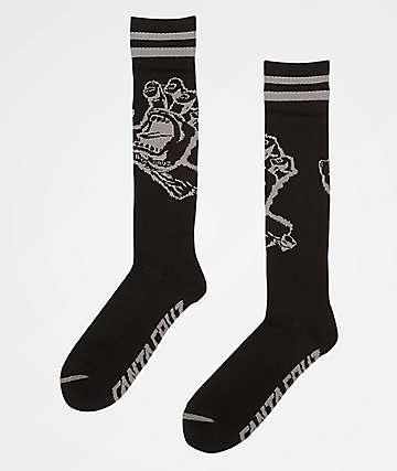 Santa Cruz Hand Black Tall Crew Socks
