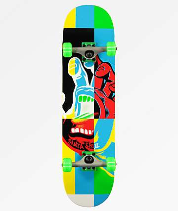"Santa Cruz Hand Blocker 8.0"" Skateboard Complete"