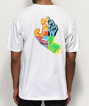Santa Cruz Hand Blocker White T-Shirt