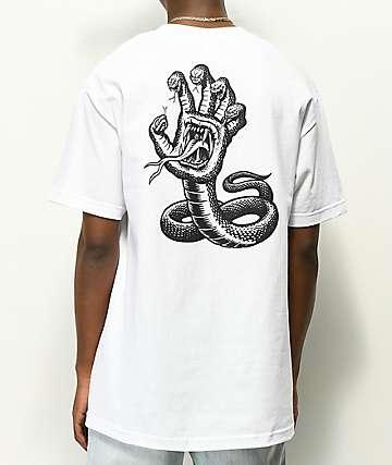 Santa Cruz Hissing Hand White T-Shirt