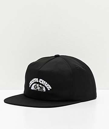 Santa Cruz Horizon Black Strapback Hat