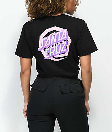 Santa Cruz Illusion Dot Black & Pink T-Shirt