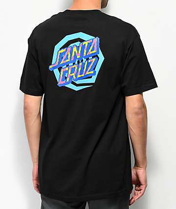 Santa Cruz Illusion Dot Black T-Shirt