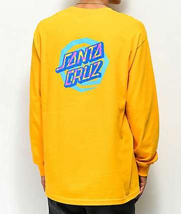 Santa Cruz Illusion Dot camiseta dorada de manga larga
