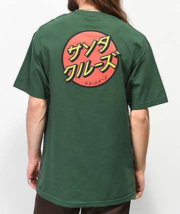 Santa Cruz Japan Dot Forest Green T-Shirt